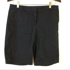 J.crew Bermuda chino shorts black flat front 4
